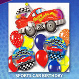 Ballonnenpakket: Sports Car Birthday