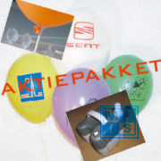 Aanbieding: Bedrukte ballonnen + Pomp + Staafjes