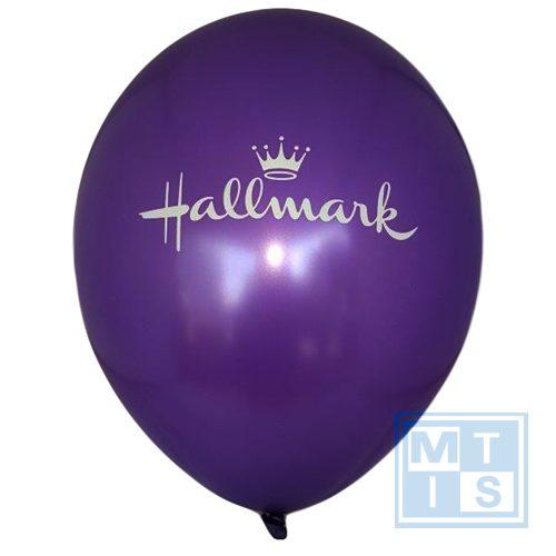 Zeefdruk bedrukken van ballonnen: 2zijden/1kleur. 6.600st, verpakt per 50st