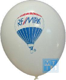 Zeefdruk bedrukken van ballonnen: 1zijde/2kleuren