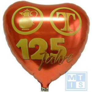 Folieballon HART Doorsnede 45cm: zeefdruk bedrukking