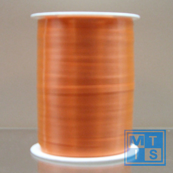 Lint: oranje Breedte 5mm Lengte: 500mtr