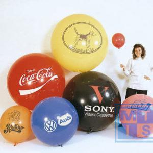 R175 Bedrukte reuzenballon: 1kleur / 1 zijde, 57cm doorsnede