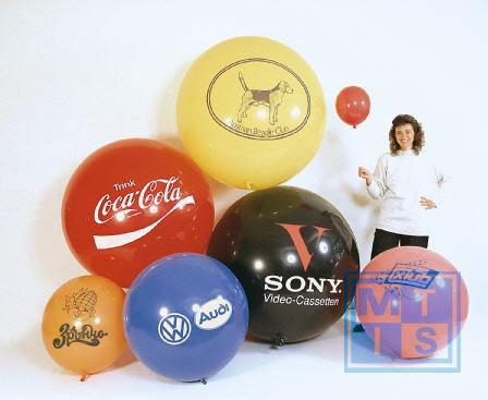 R175 Bedrukte reuzenballon: 2 kleuren / 1 zijde, 57cm doorsnede