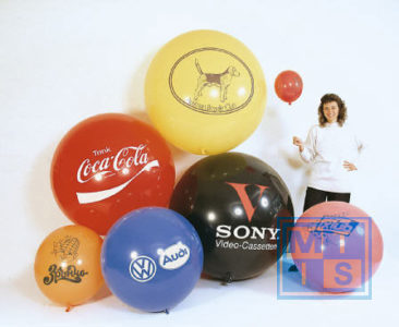 R250 Bedrukte reuzenballon: 1 kleur, 80cm doorsnede