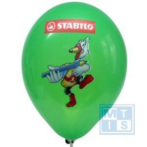 Superdruk bedrukken van ballonnen: 2zijden/3kleuren