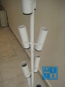 Ballonnenboom van metaal voor 16 ballonnen of vlaggen Reclameballon